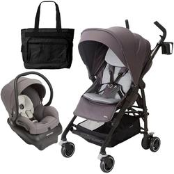 Maxi-Cosi CV258CTFK Dana Stroller - Loyal Grey With Carseat and Bag