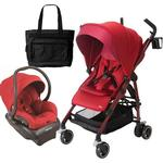 Maxi-Cosi CV258CKTK Dana Stroller - Red Rumor With Carseat and Bag