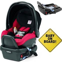 Peg Perego - Primo Viaggio 4-35 Mod Red With Base and Baby on Board Sign
