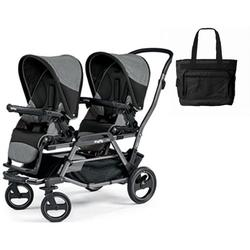 Peg Perego - Duette Piroet Double Stroller Atmosphere with Diaper Bag