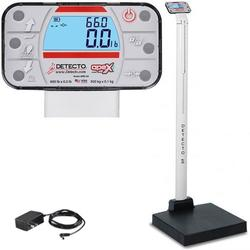 Detecto APEX-AC Physician Scale With Mechanical Height Rod and AC adapter 600 x 0.2 lb