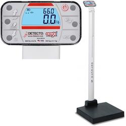 Detecto APEX-LXI-AC Physician Scale With Mechanical Height Rod AC adapter and Welch Allyn LXI 600 x 0.2 lb