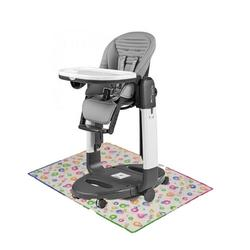 Peg Perego - Tatamia High Chair Stripes Grey With Splat Mat