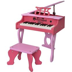 Schoenhut 3014PP Two Tone Digital Baby Grand Piano & Bench - Pink/Pink