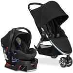 Britax B-Agile travel system with matching car seat and diaper bag in Black