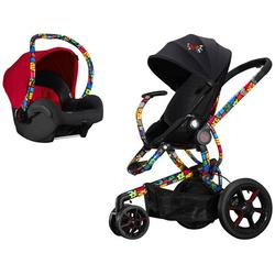 Quinny Britto Moodd Black Stroller with Maxi-Cosi Britto Mico Infant