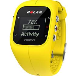 Polar A300 Mellow Yellow Fitness and Activity Monitor with HR and Travel Bag