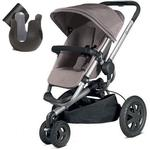 Quinny CV268CEBK10 - Buzz Xtra Stroller With Cup Holder - Gracious Grey
