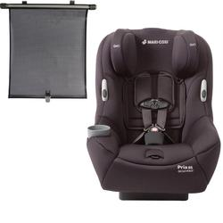 Maxi Cosi Pria 85 Convertible Car Seat with BONUS Retractable Window Sun Shade (Devoted Black)