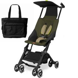 Goodbaby GB 616230014 Pockit Stroller with Diaper Bag - Lizard Khaki