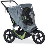 BOB S01756500 Ironman Sport Utility Dualie Stroller Weather Shield - Grey