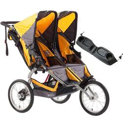 BOB Ironman, Duallie Double Stroller with the BOB Snack Tray, Yellow