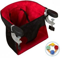 Mountain Buggy 65876 Pod Clip-on Portable High Chair with Click Clack Balls Teether - Chilli