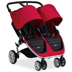 Britax B-Agile Double Stroller with matching diaper bag - Red