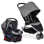 Britax B-Agile 3 / B-Safe 35 Travel System With Diaper Bag - Steel