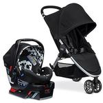 Britax B-Agile 3 / B-Safe 35 Elite Travel System With Diaper Bag - Cowmooflage