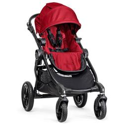 Baby Jogger 1959503 City Select  Black Frame Single Stroller - Red