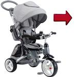 Kettler LEDGRAT500 T500 Kiddi-O 6-IN-1 Multi Trike with LED light  - Gray