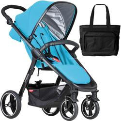Phil & Teds  Smart Buggy Baby Stroller With Diaper Bag - Cyan