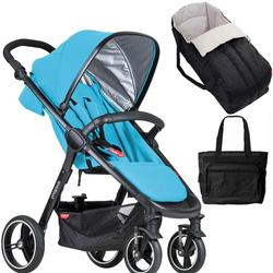 Phil & Teds  Smart Buggy Baby Stroller New Born System in - Cyan