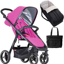 Phil & Teds  Smart Buggy Baby Stroller New Born System in - Raspberry