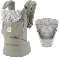 01170aa840a Ergo Baby Original Baby Carrier Bundle of Joy in Dewdrop with Easy Snug  Infant Insert Grey