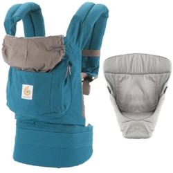 Ergo Baby Original Baby Carrier Bundle of Joy in Teal with Easy Snug Infant Insert Grey