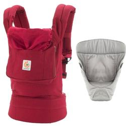 ec917ec9ed6 Ergo Baby Original Baby Carrier Bundle of Joy in Red with Easy Snug Infant  Insert Grey