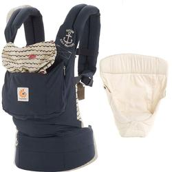 Ergo Baby Original Baby Carrier Bundle Of Joy In Sailor With Easy Snug Infant Insert Natural Coupons And Discounts May Be Available