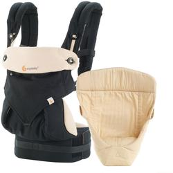Ergobaby 4 Position 360 Bundle Of Joy with Easy Snug Infant Insert - Black/Camel