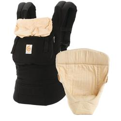 Ergobaby 3 Position Original Bundle Of Joy with Easy Snug Infant Insert - Black/Camel