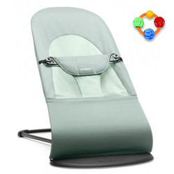 Baby Bjorn Infant Baby Bouncer Balance - Frost Green with Click Clack Balls Teether