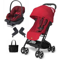 Goodbaby GB QBIT Dragonfire Red Asana Infant Car Seat And Stroller Travel System With Diaper Bag