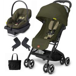 goodbaby gb qbit lizard khaki asana infant car seat and stroller travel system with diaper bag. Black Bedroom Furniture Sets. Home Design Ideas