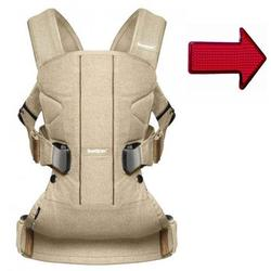 Baby Bjorn Birchwood Beige Baby Carrier One with FREE Safety Reflector