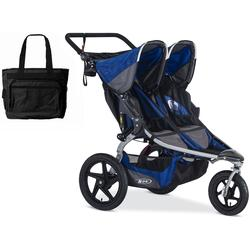 BOB Stroller Strides Duallie Stroller with Snack Tray - Blue