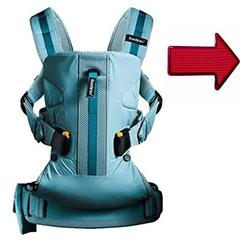 Baby Bjorn Baby Carrier One Outdoors - Turquoise with FREE Safety Reflector!