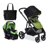 Britax B-Ready B-Safe Travel System - Peridot / Meadow / Green with Diaper Bag