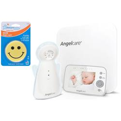 Angelcare AC1300 Video and Movement with Sound Monitor White with Night Light