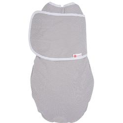 Embe  2-Way Baby Infant Swaddle - Grey Stripe