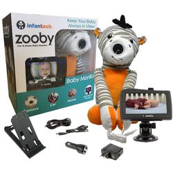 Infanttech Zooby Car and Home Video Baby Monitor - Zebra