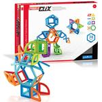 Guidecraft G9201 PowerClix Frames Magnetic Building Toys 74 Pc. Set