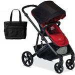Britax B-Ready Stroller with Diaper Bag -- Poppy