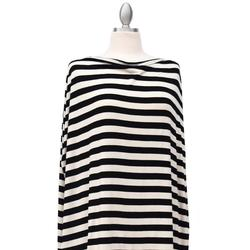 Covered Goods 1000NC Classic Black and Ivory Stripe Nursing Cover