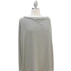 Covered Goods 1002NC Black and Ivory Pinstripe Nursing Cover