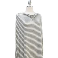 Covered Goods 1003NC Grey and Ivory Pinstripe Nursing Cover