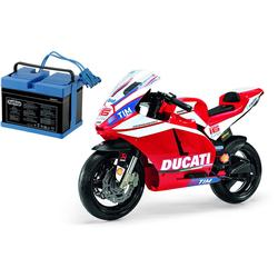 Peg Perego Ducati GP Motorcycle Ride On with Spare 12 Volt Battery and Charger
