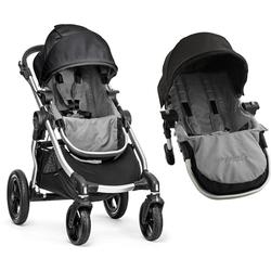 Baby Jogger City Select with Second Seat Kit Tandem Stroller  - Black/Grey