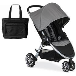 Britax B-Agile 3 Stroller with Diaper Bag  - Steel
