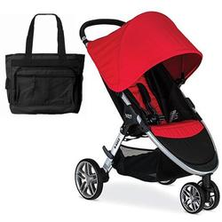 Britax B-Agile 3 Stroller with Diaper Bag  - Red